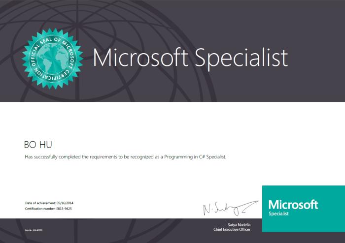 C# Specialist